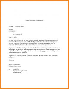 Lease Renewal Letter to Tenant Template - Lease Renewal Letter Intent Sample