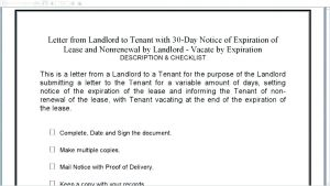 Lease Renewal Letter to Tenant Template - Lease Renewal form – Omtimes
