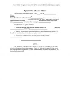Lease Renewal Letter to Tenant Template - Rental Lease Extension Agreement 20 Inspirational Renew Tenancy