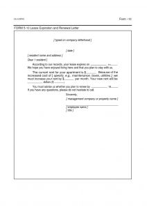 Lease Renewal Letter to Tenant Template - Mercial Lease Renewal Letter to Landlord Sample