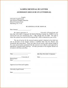 Lease Renewal Letter to Tenant Template - Inspirational Renewal Tenancy Agreement Letter Sample – Jual Beli