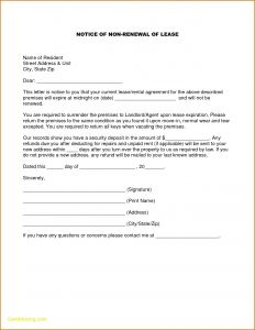 Lease Renewal Letter to Tenant Template - Lease Renewal Letter Template Examples
