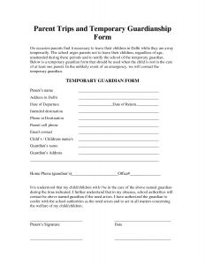 Legal Guardianship Letter Template - Free Guardianship Letter Template Samples