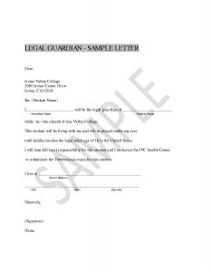 Legal Guardianship Letter Template - Legal Guardianship Letter Template Collection