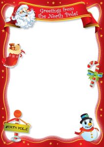 Letter Border Template - Free Blank Letter From Santa Template New Calendar Template Site