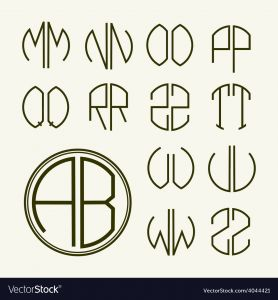 Letter C Monogram Template - Set Template Letters to Create Monograms Vector Image