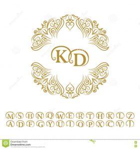 Letter C Monogram Template - Vintage Monogram Abstract Logo Alphabet Stock Vector