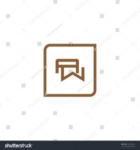 Letter C Monogram Template - Letter W Monogram Frame Square Logo Stock Vector Royalty Free