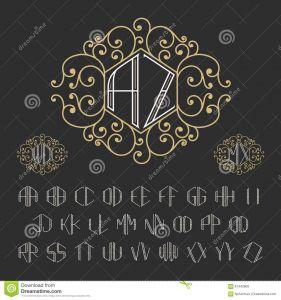 Letter C Monogram Template - Two Letters Monogram Template Stock Vector Illustration Of