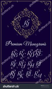 Letter C Monogram Template - Vintage Monogram Design Template Binations Capital Stock