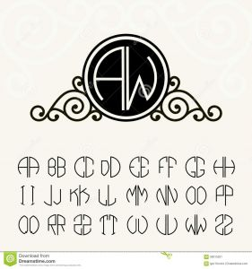 Letter C Monogram Template - Stylish and Graceful Floral Monogram Design Stock Image Image Of