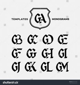 Letter C Monogram Template - Monogram Design Template Binations Capital Letters Stock