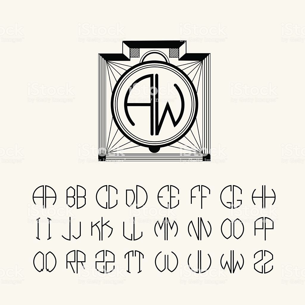 letter c monogram template example-Set template monograms of two letters Art Nouveau style royalty free set template monograms of 17-f
