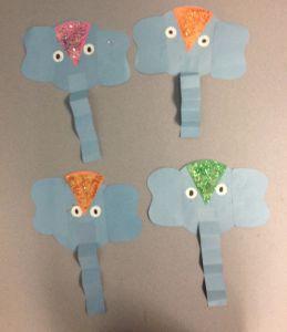 Letter E Elephant Craft Template - Preschool Craft Around the World Week India Elephant Craft