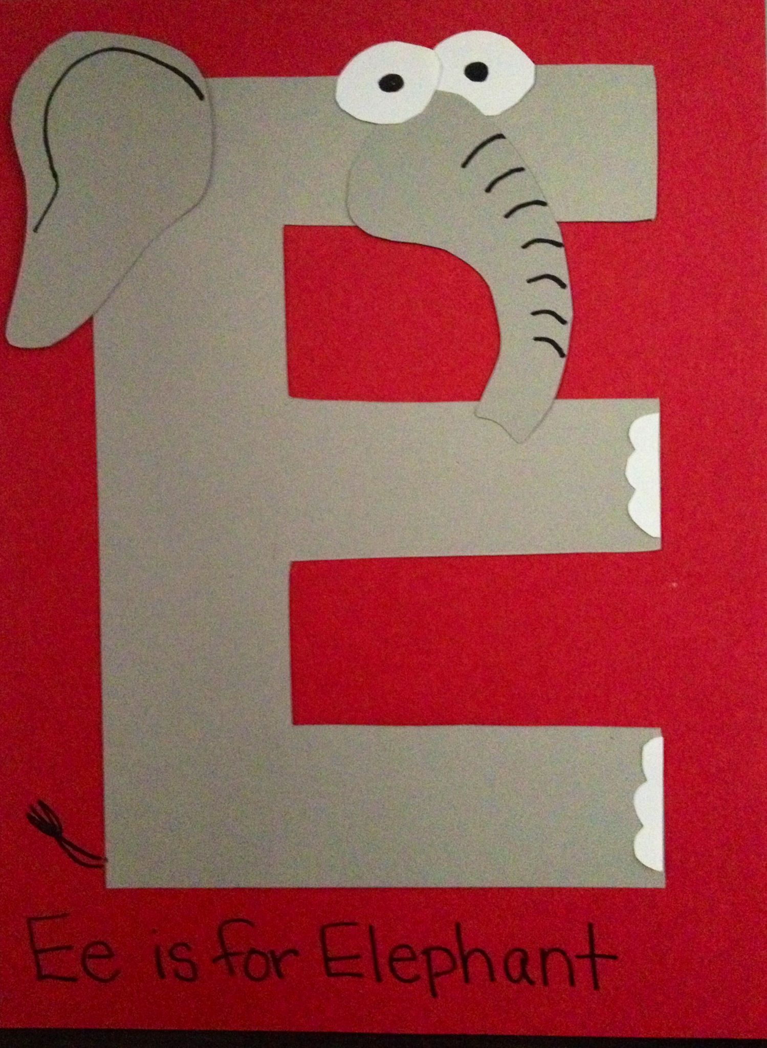 letter e elephant craft template example-Letter E Crafts Preschool Crafts 4-s
