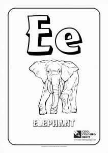 Letter E Elephant Template - 50 Lovely Words that Start with the Letter E