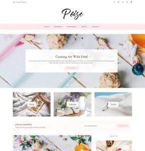 Letter F Craft Template - Poise Wordpress Blog theme Wordpress Blog themes Creative Market