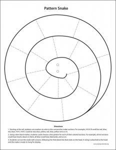 Letter F Craft Template - Pattern Snake Template Animals Making Pinterest