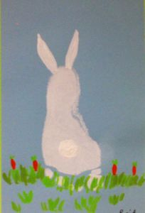 Letter From Easter Bunny Template - Bunny Footprint Art Hand & Footprint Art Pinterest