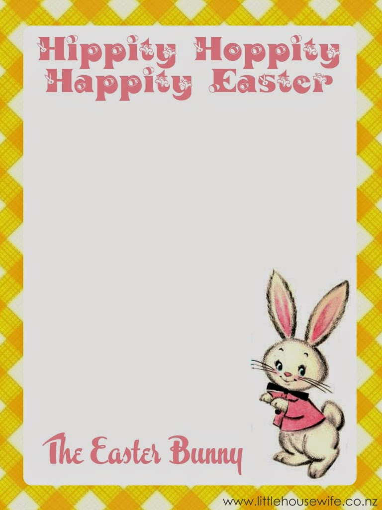 letter from easter bunny template example-Little Housewife Letter From The Easter Bunny 17-o