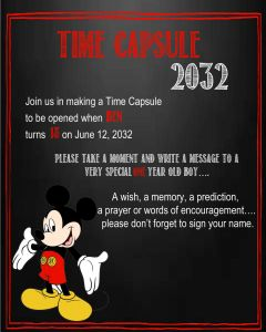 Letter From Mickey Mouse Template - Mickey Mouse Time Capsule Sign for A First Birthday In 2018