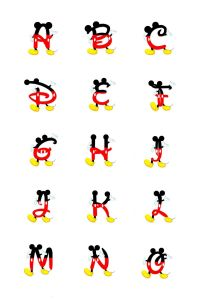 Letter From Mickey Mouse Template - Pin by Bottlecap On Bci Pinterest