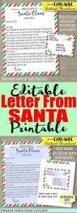 Letter From Santa Envelope Template - Letter From Santa Claus Santa Letter Template Christmas Letter