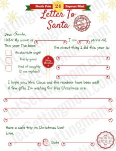 Letter From Santa Template Printable - Letters to Santa Templates Free Printable Best Printable Letter to