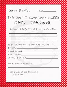 Letter From Santa Template Printable - Free Printable Letter to Santa Template Samples