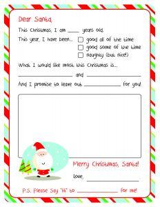 Letter From Santa Template Printable - Santa Letter Template Printable Gallery