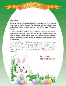 Letter From the Easter Bunny Template - Letter From Easter Bunny Template