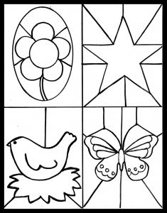 Letter M Craft Template - Kid S Craft Stained Glass Free Printable