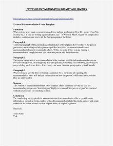 Letter Of Application Template - 22 Free Re Mendation Letter Example