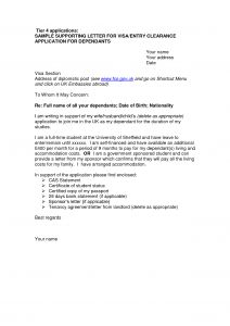 Letter Of Application Template - Visa Letter Template Download