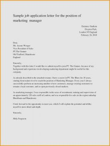 Letter Of Application Template - Writing A Job Fer Letter Standard Job Application Template New
