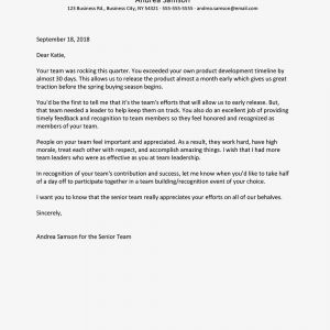 Letter Of Commitment Template - Sample Employee Thank You Letters for the Workplace