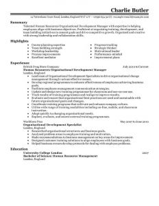Letter Of Competency Template - Best organizational Development Resume Example