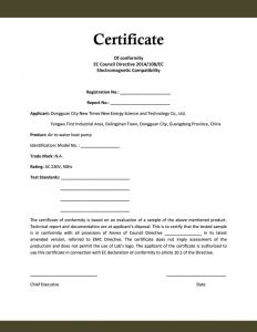 Letter Of Compliance Template - Plumbing Certificate Pliance Template top Resume Template Doc