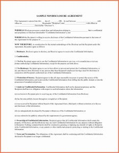 Letter Of Confidentiality Template - Letter Confidentiality and Nondisclosure Template Sample