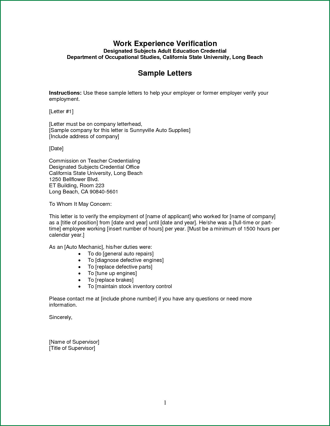 letter of employment verification template Collection-15 Awesome Employee Verification Letter 15-i
