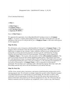 Letter Of Engagement Template Consultant - Bookkeeping Engagement Letter Template Download