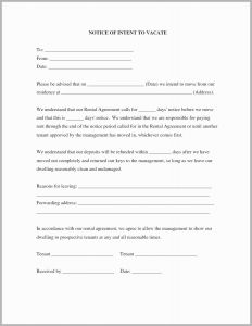 Letter Of Eviction Template - Eviction Notice Letter Template Elegant 30 Day Notice Template to