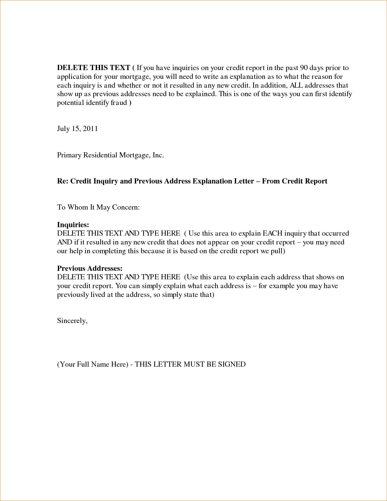 letter of explanation for credit inquiries template Collection-Letter Explanation for Credit Inquiries Template Letter Explanation format New Letter Explanation Sample Best 1-g