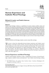Letter Of Freedom to Marry Catholic Church Template - Pdf Human Experience and Catholic Moral theology