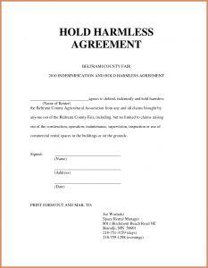 Letter Of Indemnification Template - 13 Letter Of Indemnity Vorlage