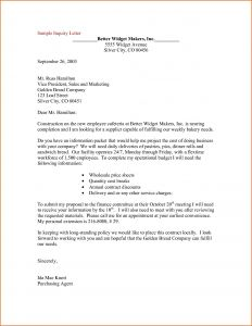 Letter Of Inquiry Template - Letter Inquiry Template Examples