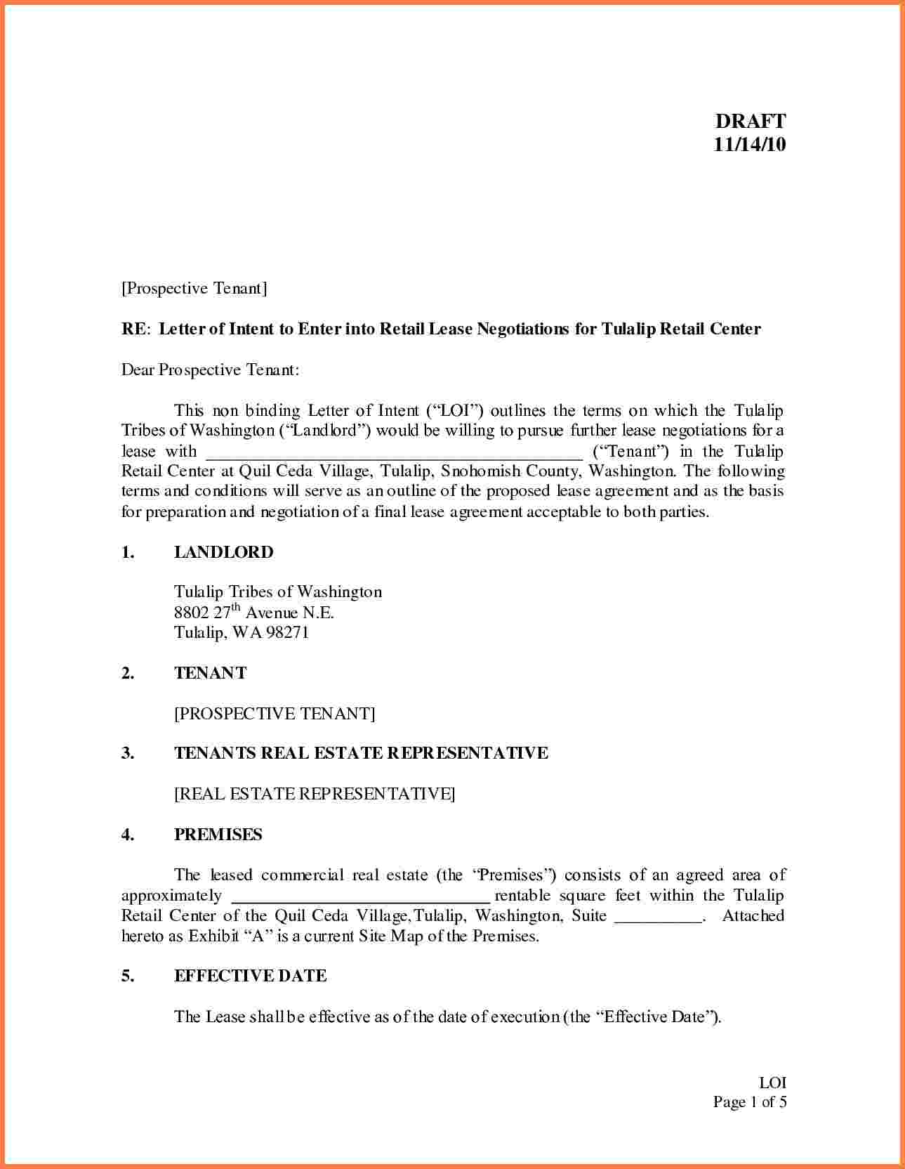 letter of intent commercial lease template example-mercial Lease Letter Intent Template Letter Intent Real Estate Lease Example Restaurant Sample Renewal 5-n
