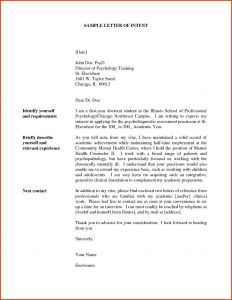 Letter Of Intent for A Job Template - Letter Intent to Hire Template 2018 Letter Intent for Job Opening