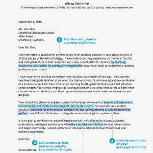 Letter Of Intent for Job Template - Teacher Cover Letter Example and Writing Tips