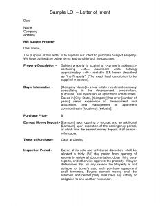 Letter Of Intent Real Estate Template - Letter Intent to Sell House Template Collection